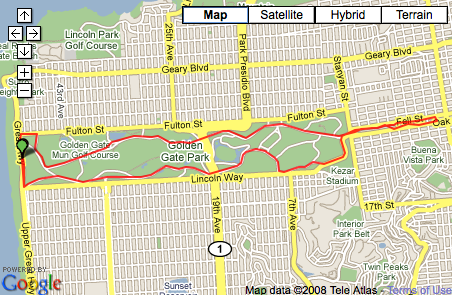 10 Mile Golden Gate Park Run